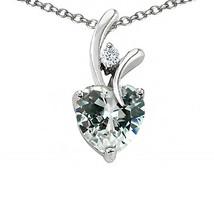 Women's Classy 7MM OR 9MM White Sapphire Heart Shape Pendant 14K Solid Gold - $25.82+