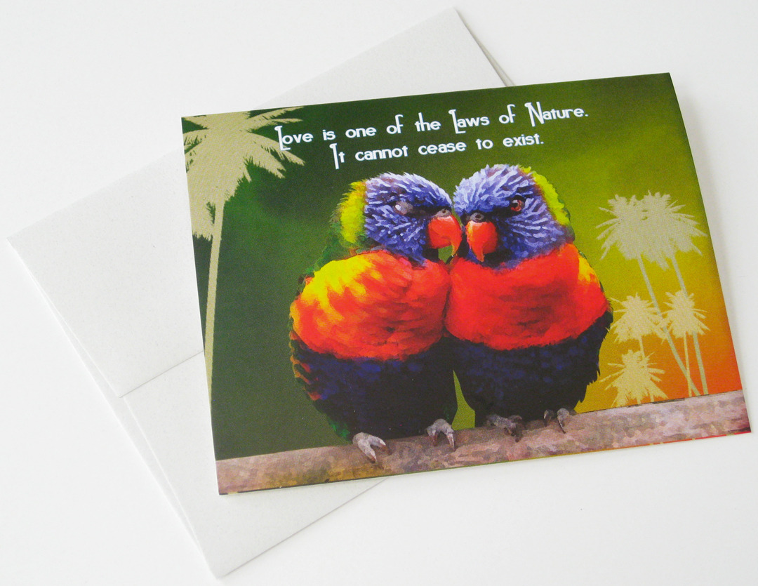 UNIVERSAL LAW: Unique Love, Inspirational, Philosophical Blank Card