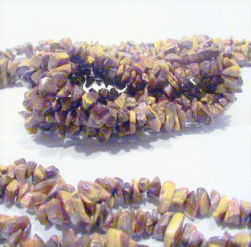 Gemstone Rock Chips Necklace & Stretch Bracelet Fashion Set by MetroStyle image 2