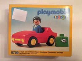 Playmobil 6700 West Germany 1990 New - Car Man and Suitcase - Vintage - $18.98