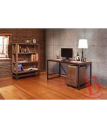 Gabriel Desk Set File Cabinet Bookshelf Writing Industrial Rustic Solid ... - $1,579.05