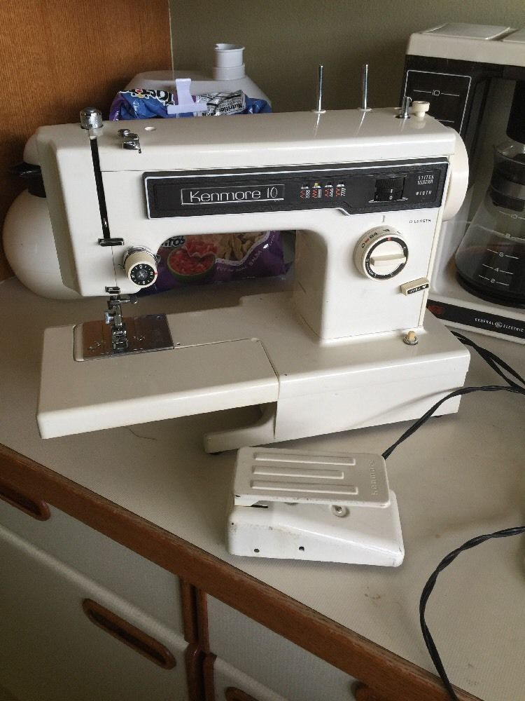 Vintage Kenmore 10 Stitch Sewing Machine Model 158-12520 Free Arm