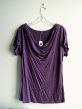 GAP Women's Rayon Lyocell Cowl-Neck Top, Solid, Purple, Career, Size M, NWT - $20.24