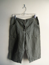 GAP Women's 100% Cotton Walking Shorts, Flat Front, Olive Green, S, Pre-owned - $11.33