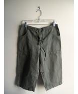 GAP Women's 100% Cotton Walking Shorts, Flat Front, Olive Green, S, Pre-... - $11.33