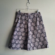GAP Women's A-line Skirt 100% Cotton Lined Black/Pink Floral, Size 6, Pre-owned - $16.19