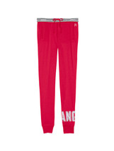 Victoria's Secret Fleece Logo Jogger Sport Lounge Pants Red Size Large NWT - $44.99