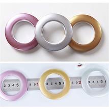 10 Pcs Home Roman Round Shape Plastic Ring for Eyelet Curtain Circle Slide Rings - $4.13