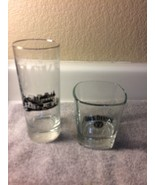 (2) JACK DANIEL'S GLASSES--ROCKS / TUMBLER --NO 7--ETCHED---FREE SHIP--VGC - $21.58