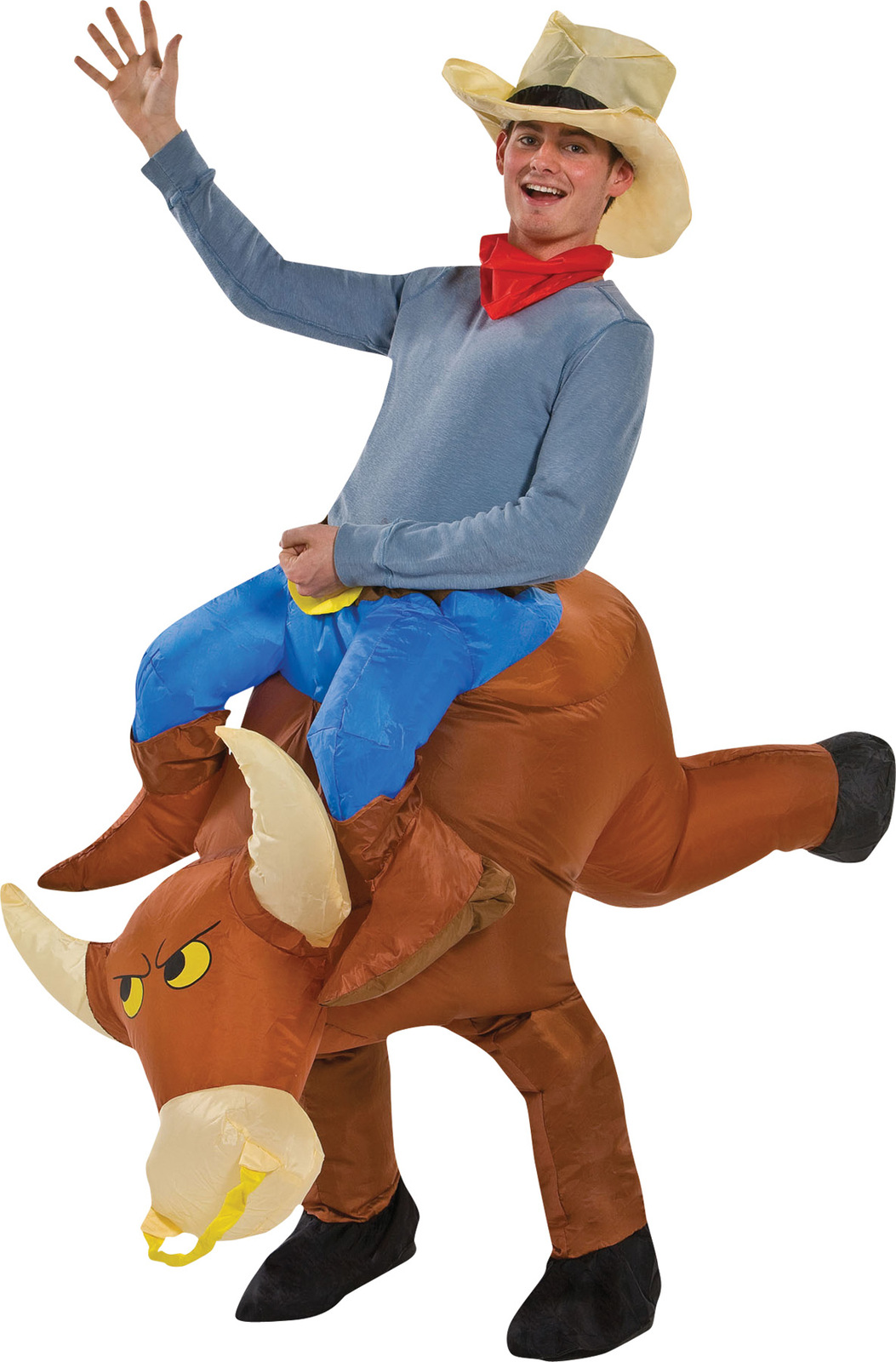Bull Rider Costume Inflatable Blow-Up Adult Halloween Unique Funny Gag SS24529G