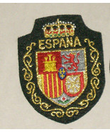 Espana Shield of Arms Embroidered Sewn World Travel Patch Free Shipping USA - $12.95