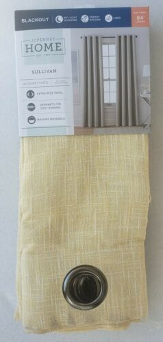 Primary image for NEW IN BOX (1) JCP Home Sullivan YELLOW Blackout Grommet Curtain Panel 50 x 84