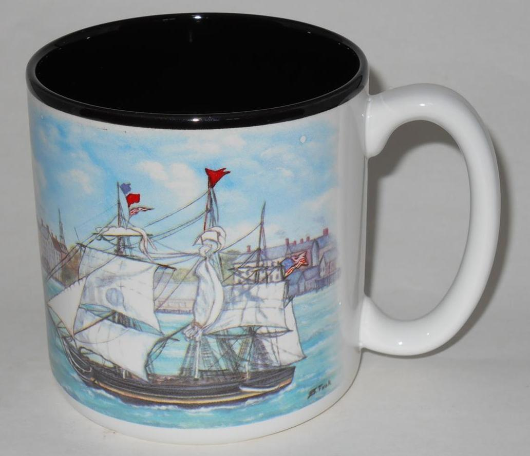 Primary image for 1993 Flowers Inc. ~ Clipper Ship ~ Coffee Cup Mug ~ Sailboat