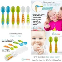Toddler Utensils Baby Spoons  Baby Forks Set With Baby Utensils Case | T... - $20.02