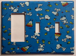 Peanuts Snoopy Woodstock Light Switch Power Outlet Wall Cover Plate Home Decor image 7
