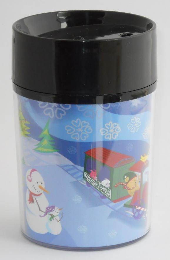 Primary image for 2001 STARBUCKS Christmas Holiday Express Kids Thermo Serv Travel Tumbler Child