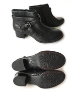 Born Black Ankle Boot Chunky Heel New 36-6 - $72.00