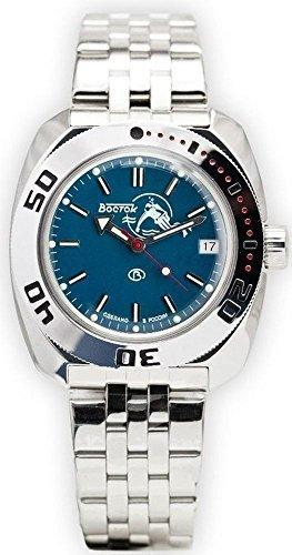Vostok Amphibian Military Russian Scuba Dude Diver Watch Blue 2416 / 710059