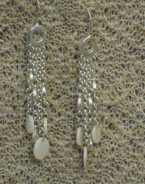 Cookie Lee Genuine Shell Pierced Earrings - Item #51590 - New!