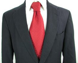 "Black Grey Pinstripe "" BROOKS BROTHERS "" 2 Button Brooksgate 40 R Jacket... - $18.18"