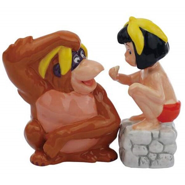 Walt Disney's The Jungle Book King Louie and Mowgli Salt and Pepper Shakers NEW