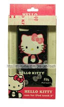 HELLO KITTY* Sleek Profile FITS iPOD TOUCH 5 Hardshell Case BLACK+SHIMME... - $7.22