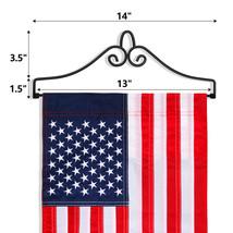 Anley Wrought Iron Garden Flag Hanger - Garden Banner Holder - $9.85