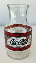 Coca Cola Godfather's Pizza Glass Carafe Pitcher Decanter Vintage 1970s b - £17.28 GBP