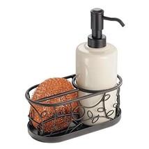 mDesign Decorative Ceramic Kitchen Sink Countertop Liquid Hand Soap Disp... - $14.80