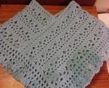 Blue Ruffles Girls 2T Crocheted Poncho Handmade - £5.58 GBP