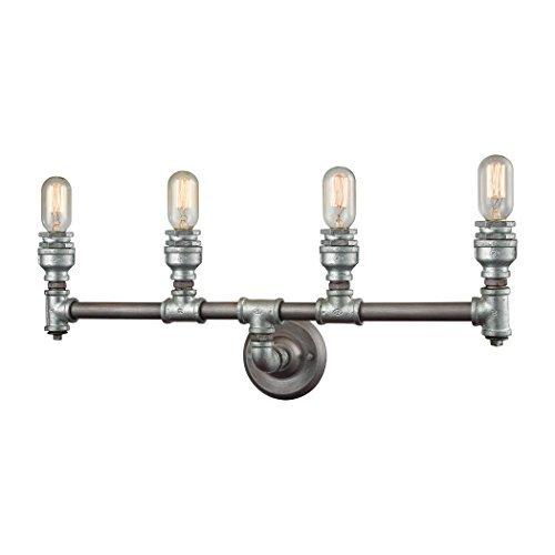 """Elk Lighting 10685/4 vanity-lighting-fixtures 10 x 28 x 6"""" Gray"""