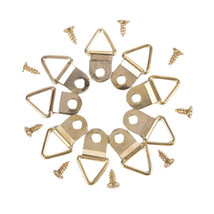100pcs Lot Picture Frame Hanger With Screws Single Hole Triangle Metal D... - $6.78