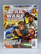 STAR WARS Magazine THE CLONE WARS #1 Newsstand 2010 Titan Comics Yoda AH... - $140.21