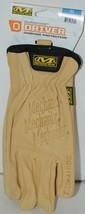 Mechanix Wear 2160251 Durahide Driver Cowhide Protection Medium Khaki 1 Pair image 1
