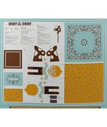 "36"" X 44"" Panel DIY Cowboy Doll Howdy Lil Cowboy Kids Cotton Fabric D755.05 - $11.95"
