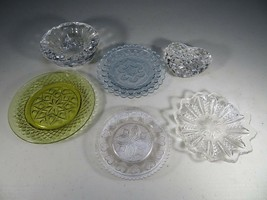Vintage collection of glassware heart ashtray saucer Mid Century Moderni... - $40.00