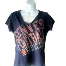 Denver Broncos NFL  Football T Shirt V Neck Team Apparel Graphic Tee SZ ... - $14.84