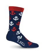 Anchors K Bell Dress Crew Socks New Men's Size 10-13 Nautical Seaworthy ... - $12.95