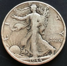 1944-D USA Walking Liberty 90% Silver 50 Cent Half Dollar Coin - Great C... - $10.38