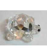 Swarovski turtle crystal signed black eyes - $26.80