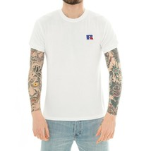 MAN T-SHIRT RUSSELL ATHLETIC SS CREWNECK TEE E90141.001.WHITE BASIC TEE ... - $61.74
