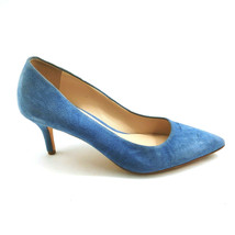 Cole Haan Womans Slip On Blue Suede High Heels Cushioned Insoles Sz 6 M - $25.48