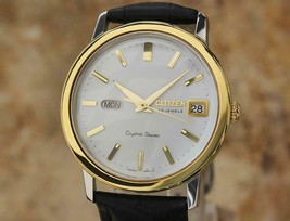 Men's Citizen Crystal Seven 37mm Day Date Automatic, c.1960s Vintage EE25 - $881.10