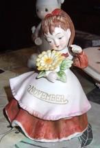 Vintage Lefton November Flower Girl Figure - $14.95