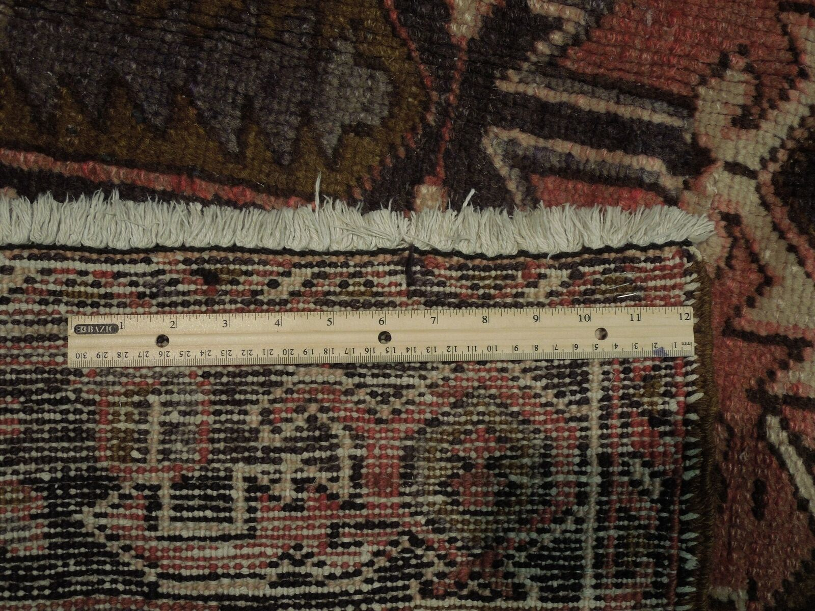 8x11 Red Heriz Wool Handmade Rust Worn-out Antique over 100 y o Persian Rug image 8