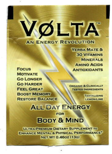 4 Packs of VOLTA Premium Dietary Supplement All Day Energy Boost Memory