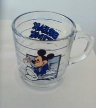 "Walt Disney Mickey Mouse ""Break Time"" Drinking Glass Cup Mug - $9.50"