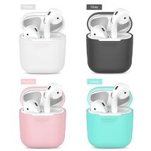 Soft Silicone Case For Apple Airpods Shockproof Cover For Apple For AirP... - $8.65