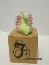 "FENTON ART GLASS 2008 OPAL HP DRAGON ""DOBIE""~D. FREDRICK - $60.00"