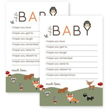 Woodland Wishes for Baby Shower Game Card Set of 20 New - ₨1,363.56 INR